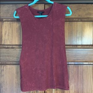 Forever 21 maroon cut off tank top